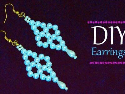 How to make easy earrings | DIY bridal earrings