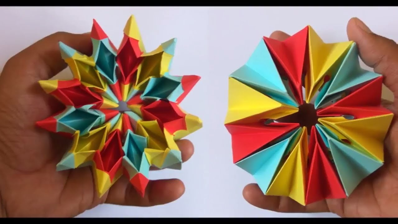 how to make easy origami magic circle fireworks diy