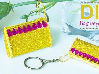How to make mini bag keychain | DIY miniature bag | Doll bag tutorial for doll house