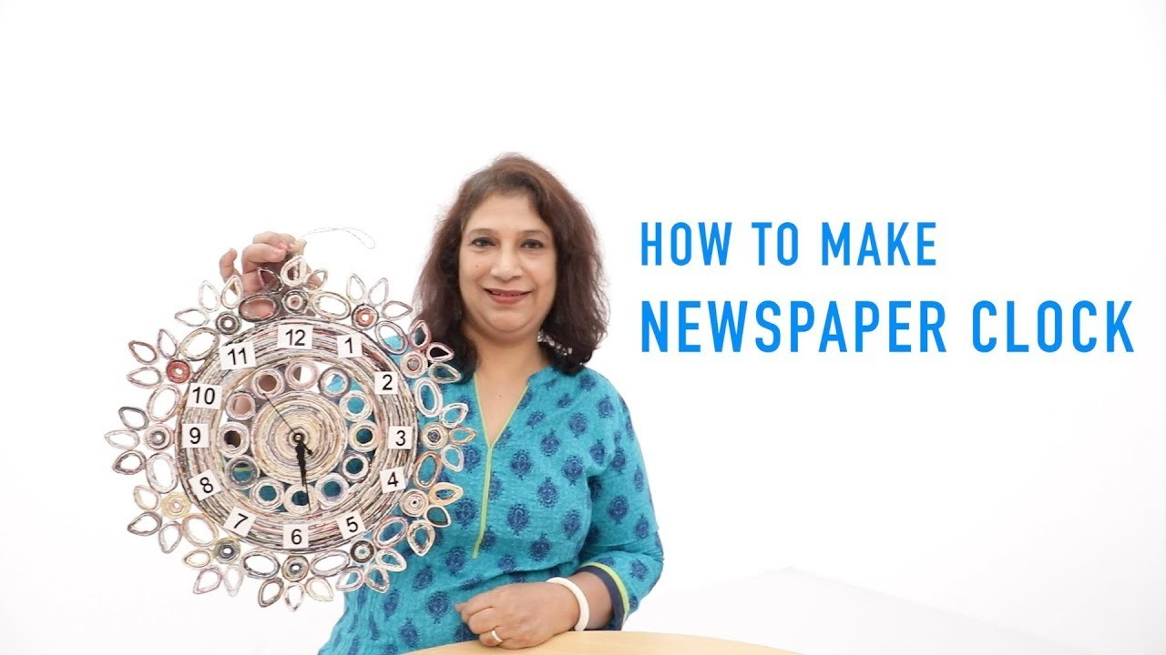 How To Make Newspaper Clock | Tutorial | DIY