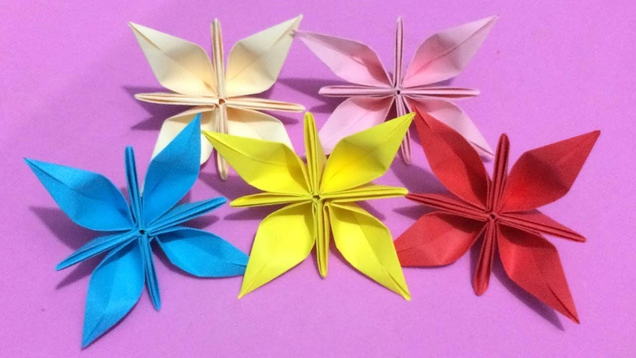 How To Make Origami Flower With Color Paper Diy Paper Flowers Making