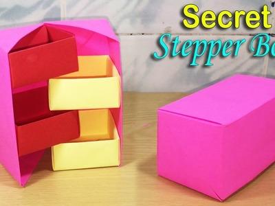 How to make Origami Secret Stepper Box Tutorial DIY