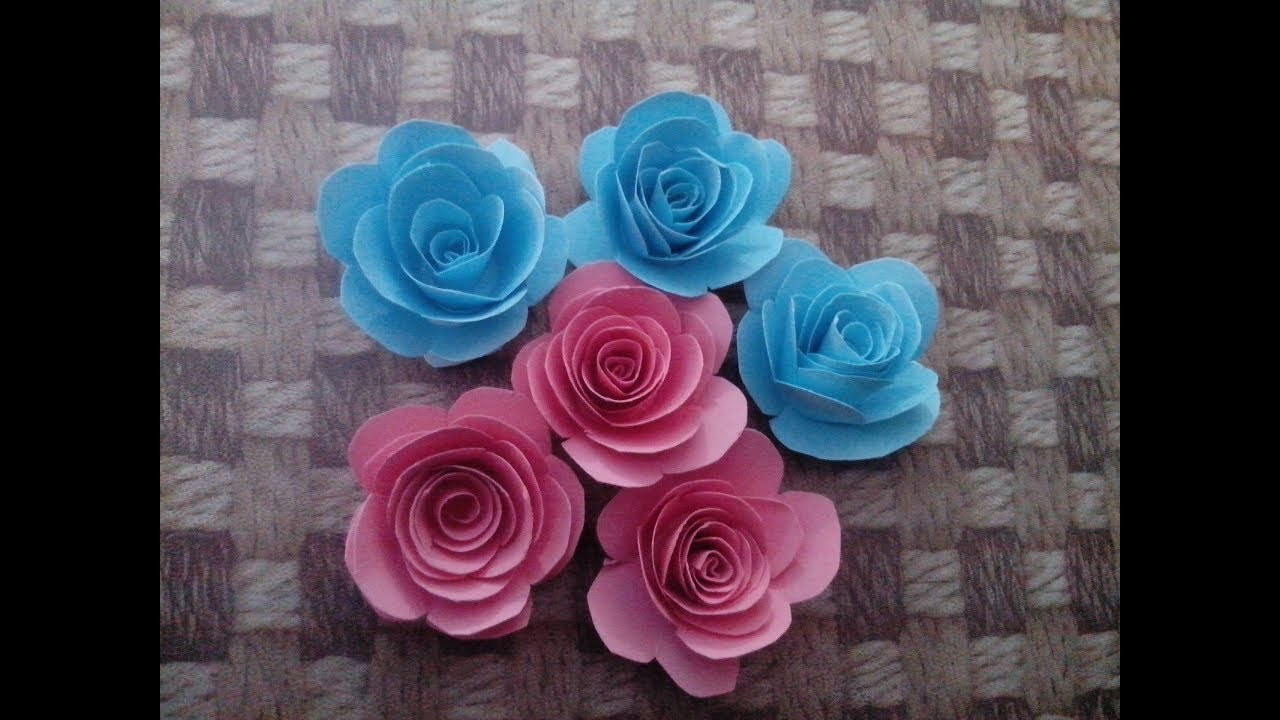 how to make rose flower on paper