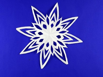 How to make Snowflake of paper DIY Decor for room Tutorial