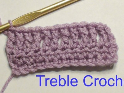 How to Treble Crochet and Treble Crochet Increase and Decrease Tutorial