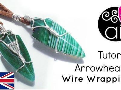 How to Wire Wrap Arrow Heads   DIY Tutorial   Man's Jewelry
