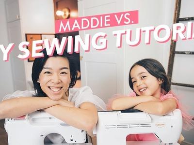 KIDS TRY MY SEWING TUTORIALS (Easy DIY Ruffled Sleeves!)  | WITHWENDY