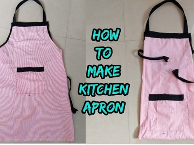 Kitchen apron making at home from waste fabric diy