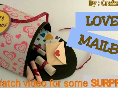 LOVE MAILBOX TUTORIAL | DIY | How to make love mailbox? | By Crafts Space