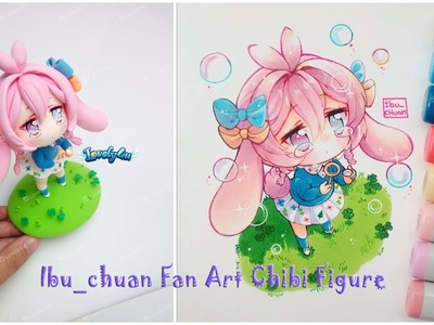 Lovely4u   VO12   Bubble girl   fan art for ibu_chuan   DIY  Clay Figure Tutorial