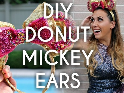 Make your own Disney Mouse Ears - DIY Mickey Donut headband tutorial