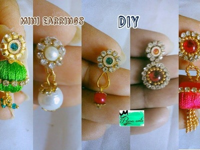 Mini earrings - 5 DIY ideas | Easy making | Just 1 or 2 steps | jewellery tutorials