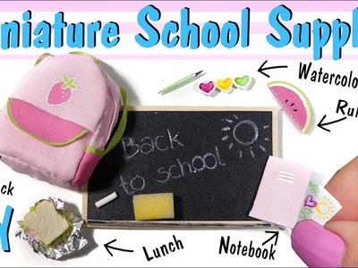 Miniature Back To School Tutorial. DIY Backpack, Chalkboard, Notebook, Watercolors +More