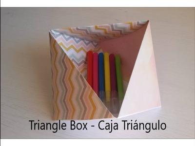 Origami Tutorial DIY 3D Triangular #Box - Caja Triangular de Papel