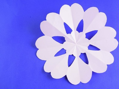 Paper Snowflake for Christmas and New Year Detailed tutorial DIY