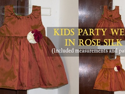 Party Frock for Kids- Cutting and stitching || DIY