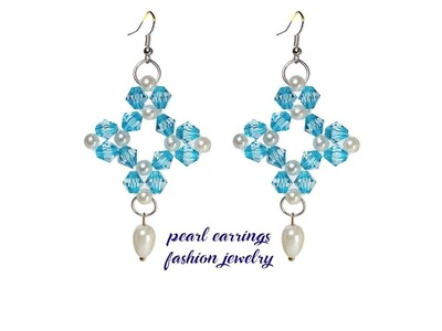 Pearl And Crystal Earring Tutorial Fashion Jewelry DIY