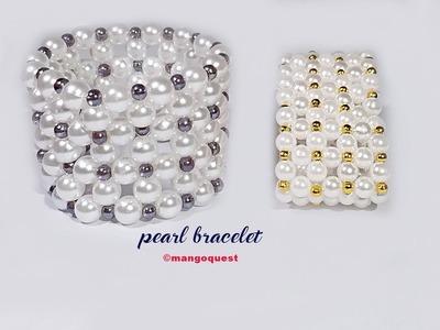 Pearl Bracelet Tutorial Fashion Jewelry DIY