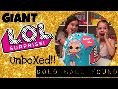REAL LIFE SIZED LOL BIG MEGA SURPRISE DOLL UNBOXED | DIY | ULTRA RARE GOLD BALL FOUND!!!!