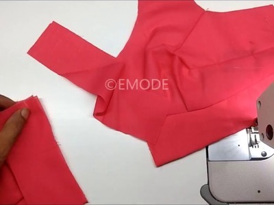 Saree Blouse cutting and stitching  malayalam DIY tutorial for beginners belt blouse stitching 2