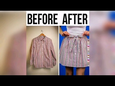 Shirt to skirt!!! Most cutest DIY transformation!!! Easy steps