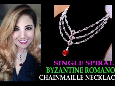 SINGLE SPIRAL AND BYZANTINE ROMANOV CHAINMAILLE NECKLACE | STEP-BY-STEP TUTORIAL | DIY | NEZ DESIGNS