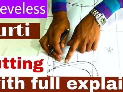 Sleeveless kurti.kameez cutting (DIY) with full explain by smart fashion look
