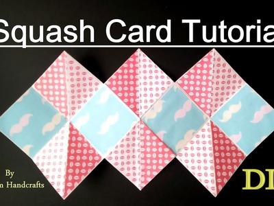 Squash Card easy Tutorial | DIY Squash card for scrapbook.explosion Box|Easy DIY gift