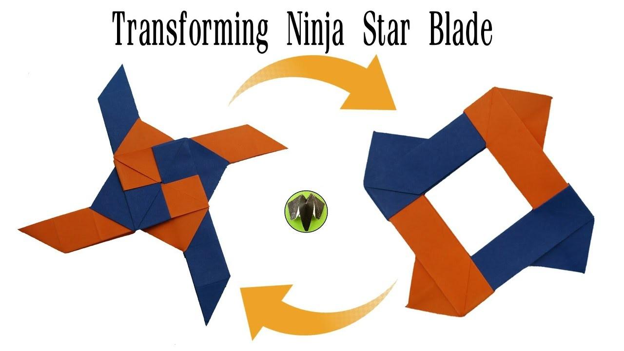 transforming ninja star blade shuriken origami diy how
