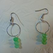 Triple Green Rondelles Dangles