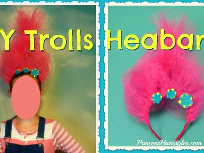 Trolls Headband Tutorial, Easy DIY Halloween Costume
