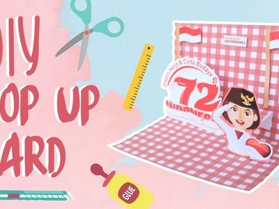 TUTORIAL DIY POP UP CARD by Indaka Scrapbook