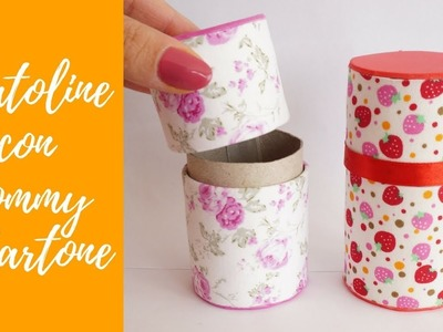 Tutorial: Scatole con Fommy e Cartone (SUB ENGS - DIY little box with fommy and toilet paper roll)