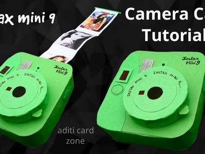 Unique instax card tutorial | Diy scrapbook | Aditi card zone |