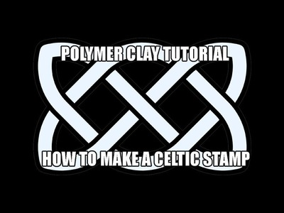 110-Polymer clay tutorial - How to - celtic texture stamp