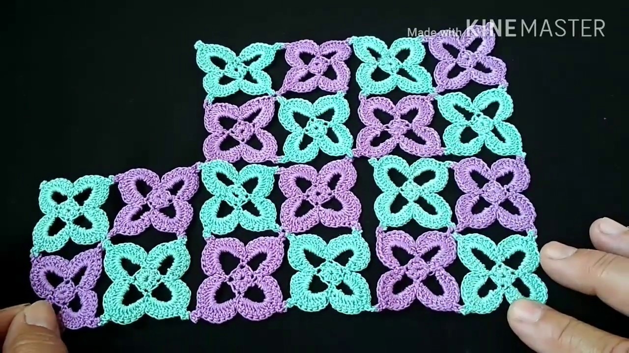 122-Crochet design#Lesson-12, crochet runner (Hindi.Urdu)