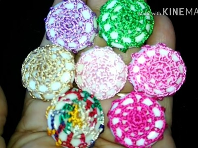123-Crochet design #Lesson 13,Decorative  crochet  buttons (Hindi.Urdu)