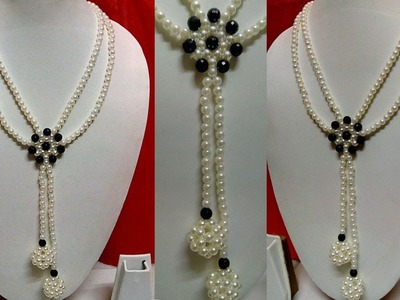 #31 How to Make Pearl Beaded Necklace    Diy    Jewellery Making