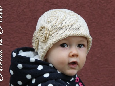 A hat for my baby girl – knit a hat with crochet flowers