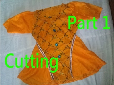 Baby Frock|Butterfly Frock(Cutting)|How To Make a Beautiful Butterfly Dress for a Little Girl|Part 1