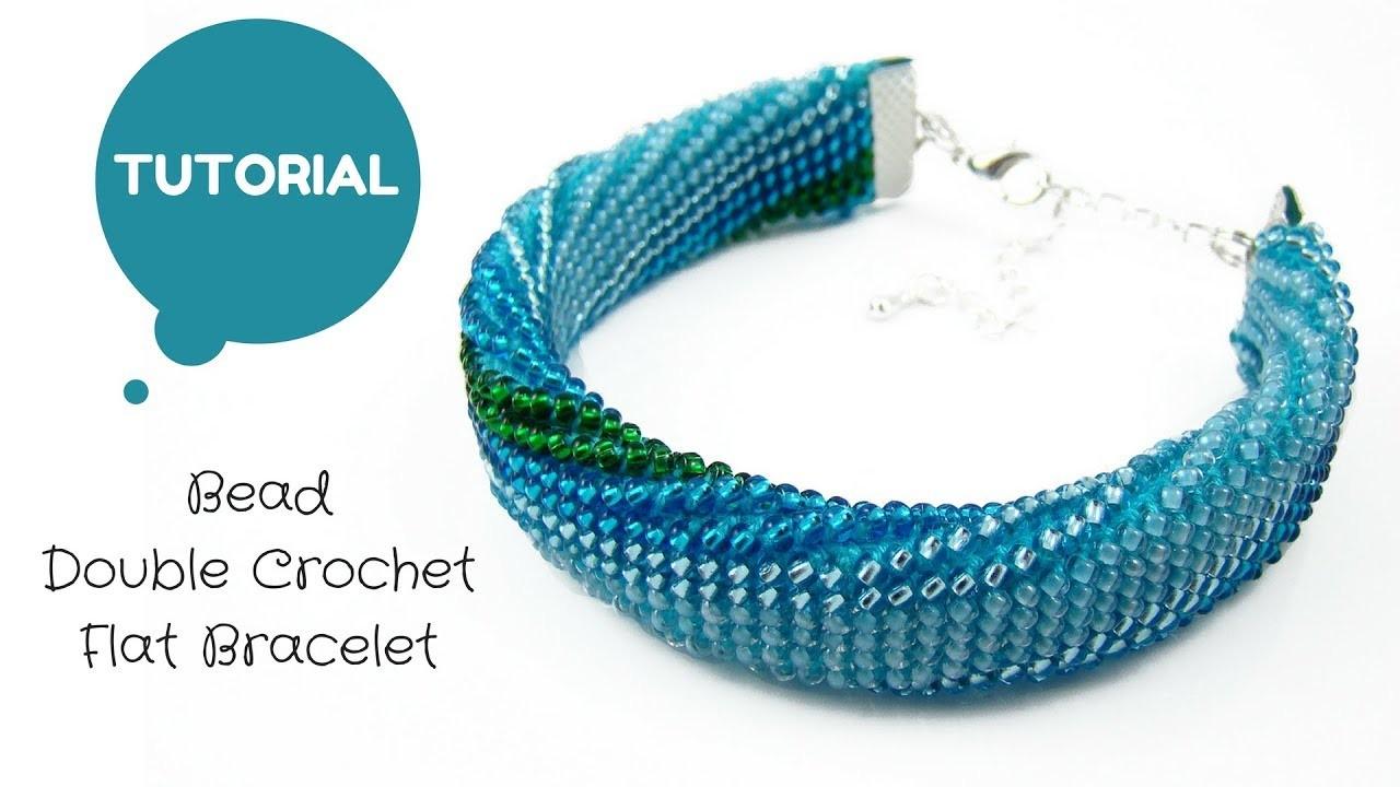 Bead Double Crochet Flat Bracelet Bead Crochet Tutorial