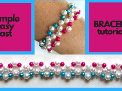 Beading tutorial for beginners. How to make handmade jewelry-simple -easy- fast