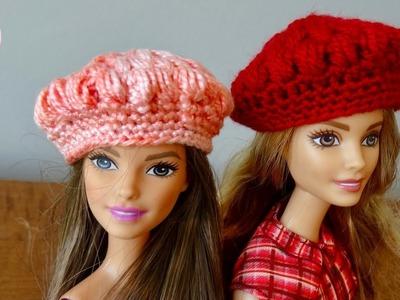 Boina punto puff a crochet para la Barbie, paso a paso