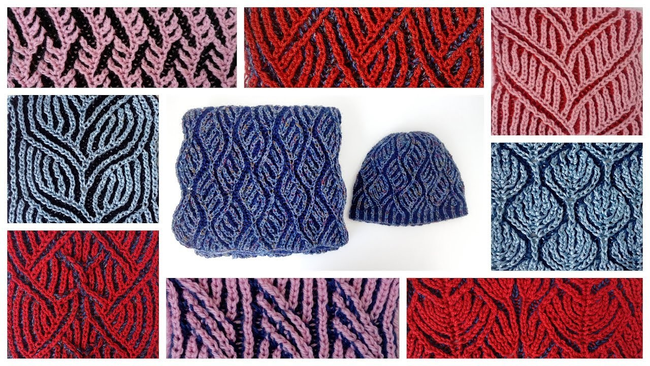 Knitting With Two Colors Book : Compilation of two color brioche stitch knitting patterns