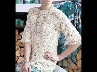 Crochet bluson chevron tutorial how to do blouse chevron ( with subtittles in several lenguage)