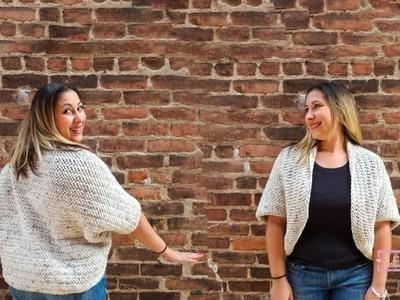 Crochet Easy Cardigan(Herringbone dc) Tutorial (EN)