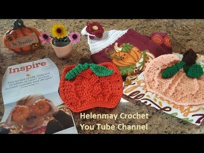 Crochet Pumpkin Hot Pad Potholder Without Braided Cable Part 2 of 3 DIY Video Tutorial
