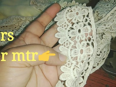 Design your own dupatta (DIY). how to perfectly attach lace on Dupatta.