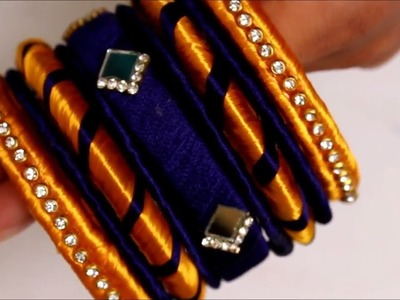 Designer Bangles Making || How to make silk thread Bangles