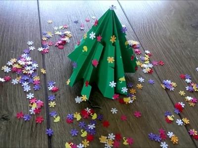 DIY Christmas tree origami